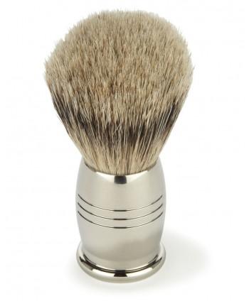 Nickel shaving brush
